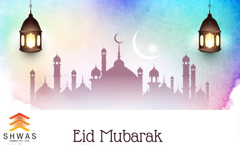 Abstract Eid Mubarak elegant decorative background